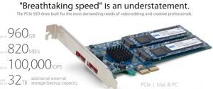 OWC PCIe SSD