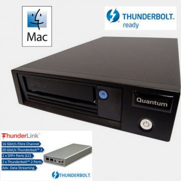 LTO-7 Tape Drive with Thunderbolt Solution